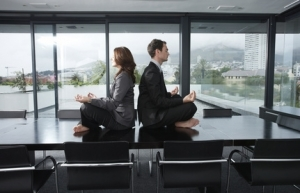 méditation au bureau