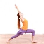 yoga warior I pose