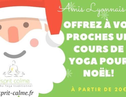 Offrez un cours de yoga pour Noël !